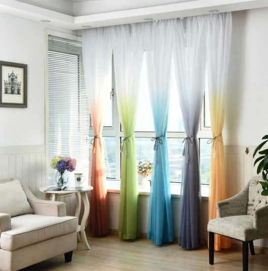 Aliexpress градиентные шторы
