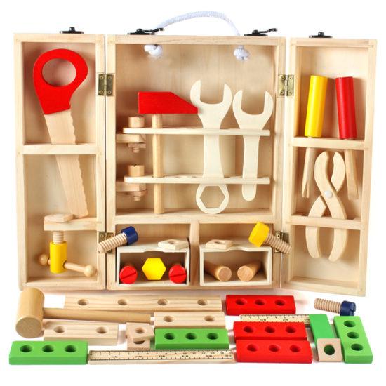 Алиэкпресс набор деревянных инструментов для ребенка