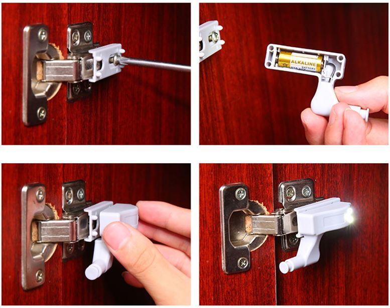 Алиэкпресс светодиодный светильник накладка для мебельной петли
