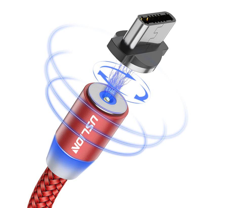 Магнитный USB кабель USLION для быстрой зарядки Алиэкспресс