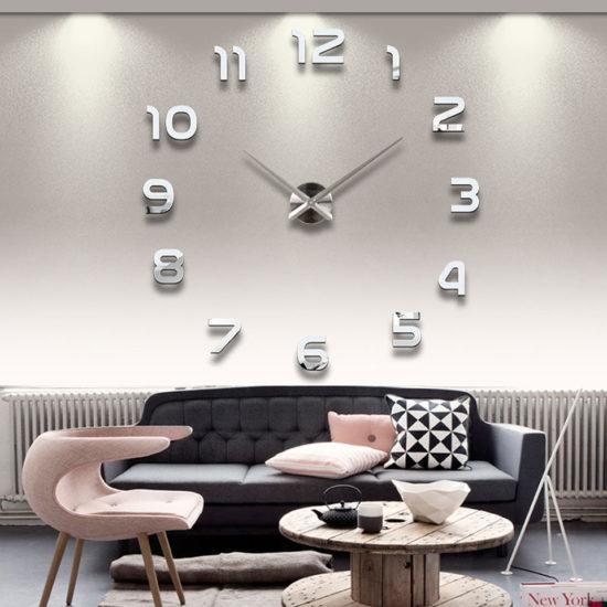 Большие настенные часы с клеящимися цифрами Алиэкспресс