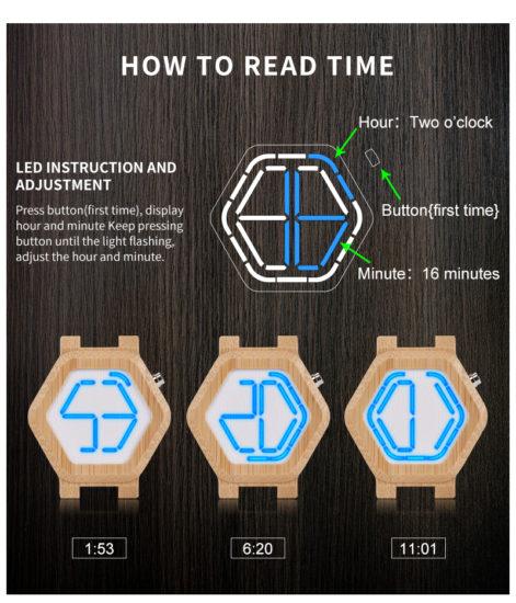 Деревянные часы c необычным циферблатом Алиэкспресс