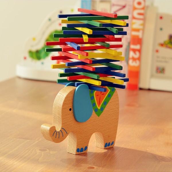 Деревянный слон (игрушка баланс) Алиэкспресс