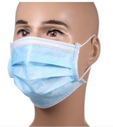 Одноразовая 3-слойная маска для лица (5-100 шт) купить на Алиэкспресс