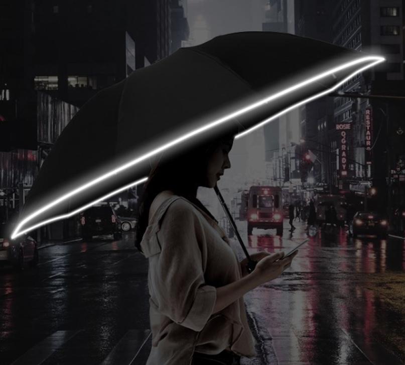 Светоотражающий зонтик с фонариком