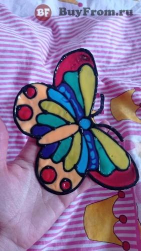 Бабочка скребковая живопись
