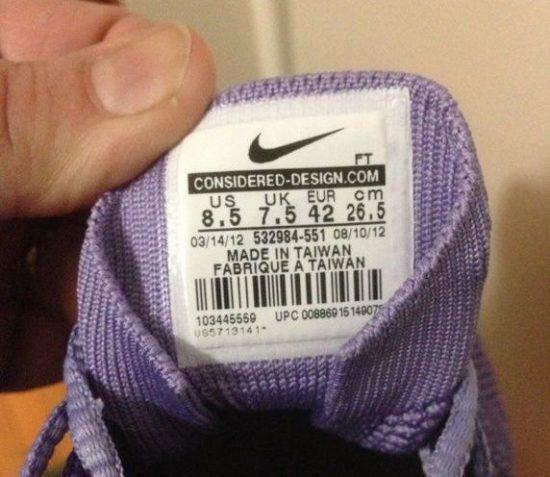 Определение размера по этикетке на обуви