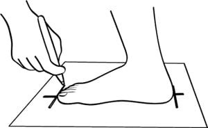 Как измерить свою ногу
