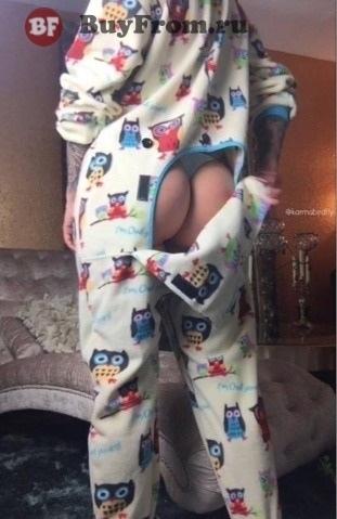 Пижама с карманом на попе Алиэкспресс