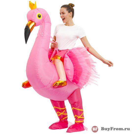 Надувной костюм фламинго Алиэкспресс